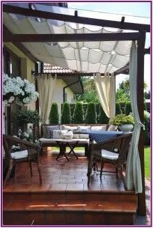 # backyard 28 creative ways to cover your patio 0 ., 28 creative ways to cover your patio 00028 When age-old in notion, the particular pergola have been encountering somewhat of a modern day rebirth these days. Outdoor Pergola, Outdoor Rooms, Outdoor Living, Outdoor Decor, Modern Pergola, Pergola Kits, Pergola Screens, Modern Deck, Pergola Lighting