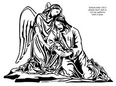 Angel consoles Jesus - Religious - User Gallery - Scroll Saw Village