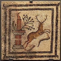 HISPANIA ROMANA Mosaic from Villa Fortunatus, Spain.