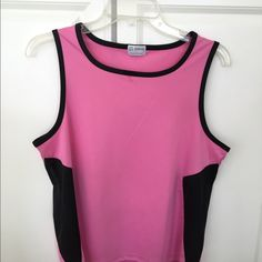 Pink and black tank top Wilson pink with black mesh sides tan top in excellent condition Wilson Tops Tank Tops