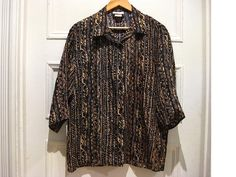 Labour day sale 15 off / vintage silk shirt / by EcoCentrik, $24.00
