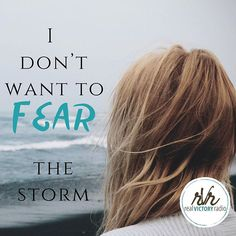 I don't want to fear the storm. No one does. And, the best news is we don't have to when we stay in the eye of the storm. There's a supernatural calm available to us at all times when we look up and trust the One who reigns. Listen in as we talk about gaining some real victory over fear and the storms in our lives... this weekend on Real Victory Radio. In the meantime, read these powerful lyrics to one of my favorite songs! Happy Friday sweet ones! Woke up to thunder and lightening. #stormyday