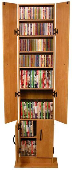 WATSONS BALTIMORE - Large 730 CD/300 DVD/Blu-ray/Media Storage Shelves - Beech | Pinterest | Media storage Storage shelves and Shelves & WATSONS BALTIMORE - Large 730 CD/300 DVD/Blu-ray/Media Storage ...