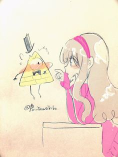 △ Gravity Falls- Mabel and Bill Cipher △ MaBill