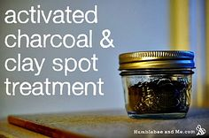 Activated Charcoal & Clay Spot Treatment for acne Cystic Acne Treatment, Natural Acne Treatment, Acne Spot Treatment, Home Remedies For Acne, Acne Remedies, Natural Remedies, Homemade Acne Treatment, Acne Scar Removal, Acne Spots