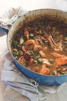 New Orleans restaurateur offers his take on a classic Louisiana dish. Recipe: ​Mamma's Seafood Gumbo from chef John Besh Creole Recipes, Cajun Recipes, Seafood Recipes, Soup Recipes, Cooking Recipes, Gumbo Recipes, Haitian Recipes, Recipies, Copycat Recipes