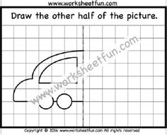 Draw the other half – Bee – One Worksheet | Draw the other half ...