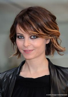 short hair, ombre