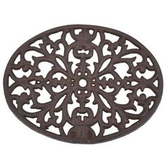 Dot & Bo Baroque Bistro Trivet (€9,21) ❤ liked on Polyvore featuring home, kitchen & dining, kitchen gadgets & tools and cast iron trivet