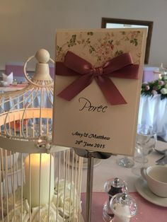 Personalised Vintage Floral Inspired Wedding Table Name/Numbers. £1.50 from www.facebook.com/TotallyBridal