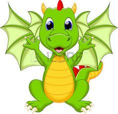 Funny dragon cartoon photo
