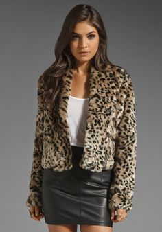 87e3e5d88cf69 Jack by BB DAKOTA Damian Leopard Printed Faux Fur Coat in Brown at Revolve  Clothing -