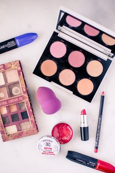 A round of my favorite beauty products I'm using for spring, including the Urban Decay + Gwen Stefani blush palette, Pixi contour palette, Revlon mascara, beauty blender, Mac Lipstick , and more!