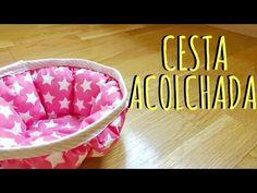 Cesta de Tela acolchada. DIY - YouTube