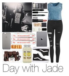 """Day with Jade"" by sassy-queen01 ❤ liked on Polyvore featuring Topshop, Sans Souci, Vans, H&M, Lord & Berry, NARS Cosmetics, Chanel, Native Union, littlemix and casualoutfit"