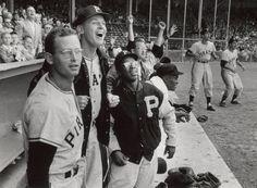 Pittsburgh Pirates Dugout. May 26, 1956.