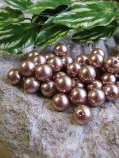 50 Wachsperlen, 10 mm, in hellem Braun, Hochzeit Deko, Perlensterne, Perle