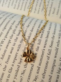 Gold Tiny Lucky Necklace