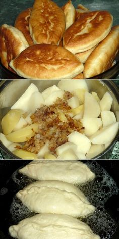 Delicious pies with potatoes with a delicious z .- Delicious potato pies with a delicious golden crust. Cheap Chicken Recipes, Chicken Mushroom Recipes, Potato Pie, Potato Dishes, My Recipes, Vegan Recipes, Favorite Recipes, Ukrainian Recipes, Food To Make