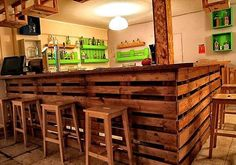 Bar built with old pallets