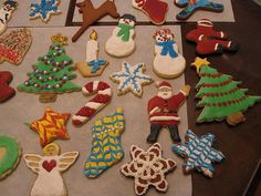 My best efforts this year at cookie decorating