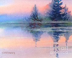 Northern Isle. watercolor, 8 x 10