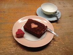 Cake mit Herz - aufgeschnitten
