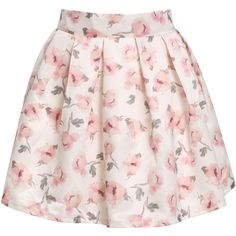 Pink Floral Flare Skirt ($20) ❤ liked on Polyvore featuring skirts, bottoms, saias, faldas, pink, pink skater skirt, skater skirt, floral circle skirt, short floral skirt e short flared skirts