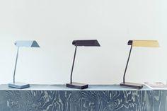 Crop table lights by Note Design Studio for Örsjö photographed by Note at their studio during Stockholm Design Week 2014