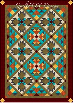 (7) Name: 'Quilting : Southwest Bear Paw - Twin/Full Size