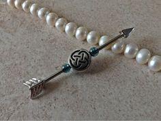 Arrow Industrial Barbell Arrow with Tribal Beads 14ga Body Jewelry Ear Jewelry Double Piercing