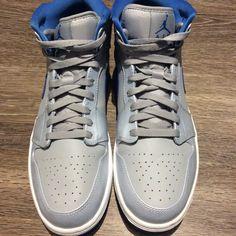 9f205476e10 Jordan Shoes | Air Jordan 1 Retro Mid Wolf Grey Sport Blue | Color: Blue