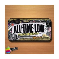 All Time Low Nothing Personal Custom iPhone 4 or 4S Case Cover... (£9.62) ❤ liked on Polyvore