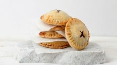 """These mini desserts are easy to make and """"oh-so-cute""""-- Easy Cherry Hand Pies"""