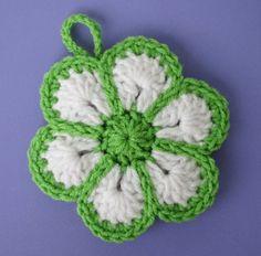Love this kitchen flower scrubbie!