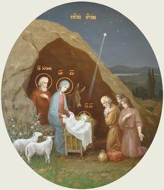 Рождество Христово. Икона церкви Николая Чудотворца, Александро-Невская Лавра.
