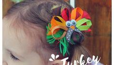 How to Make Hair Bows - 3 Easy Styles Turkey Bow, Turkey Wings, How To Make Hair, How To Make Bows, How To Make Pinwheels, Hair Bow Supplies, Halloween Hair Bows, Ribbon Hair Clips, Pinwheel Bow