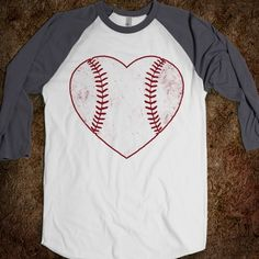 Baseball Love - would be soooo much cuter with a TB in the middle.