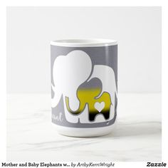 Mother and Baby Elephants with Duct Tape Texture Coffee Mug Mother And Baby Elephant, Elephant Mugs, Baby Elephants, Duct Tape, Photo Mugs, Coffee Mugs, Art Pieces, Kids Shop, Make It Yourself