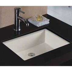 WELLS SINKWARE Rhythm Series Ceramic Lavatory Rectangular Undermount Bathroom Sink with Overflow Sink Finish: