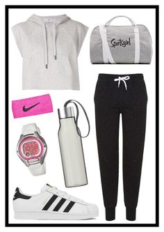 """#384 sportsgirl"" by xjet1998x ❤ liked on Polyvore featuring adidas, Topshop, Eva Solo, Casio and NIKE"