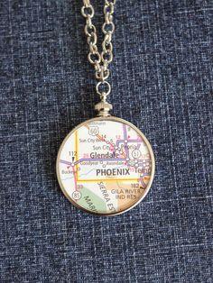 Salt and Pepper Moms: DIY Hometown Map Pendant Necklace
