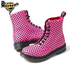 Rakuten: Dr.Martens doctor Martin deep-discount ★ PASCAL 8EYE BOOT ★ CandyPink/Black ★ pink dot- Shopping Japanese products from Japan