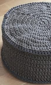 crochet poof, in dutch Cotton Cord, Knit Rug, Diy Crochet, Crochet Clothes, Crochet Patterns, Stitch, Blanket, Creative, Crafts