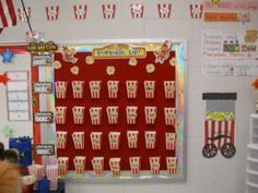teach, blog, repeat: Rachele's classroom--Could use for interactive word wall, bucket fillers, behavior tickets, etc