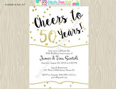 Diy 50th wedding anniversary invitations