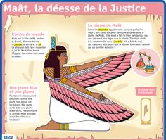 Exhibit: Maat, the Goddess of Justice Ancient Symbols, Ancient Egypt, Ancient History, Art History, Study French, Learn French, Vintage Tattoo Art, French Expressions, French Phrases