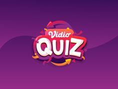 Vidio Quiz Logo designed by Freska Paramita. Connect with them on Dribbble; Typography Inspiration, Logo Design Inspiration, Mobile Logo, Sports Graphic Design, Game Ui Design, Game Logo, Text Style, Photoshop, Text Design