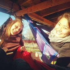 "Happy #TrekLightGear Hammockers finding a great spot to hang: ""Thanks to @christeen_127 and @artsyasian5 we did not waste the beautiful afternoon. #treklight #hammockinfebruary #buffalove"" (  @l.n.armstrong )"