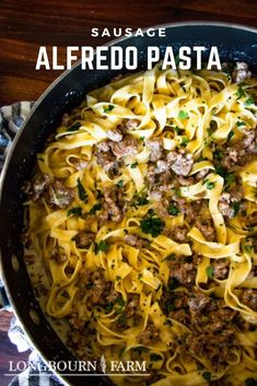 Yummy Pasta Recipes, Best Dinner Recipes, Noodle Recipes, Easy Family Meals, Family Recipes, Easy Meals, Fancy Dishes, Pasta Dinners, Sausage Pasta
